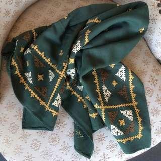 現貨美國二手Vintage 刺繡多用途圍巾/桌巾裝飾