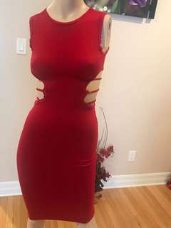 Red cutout dress