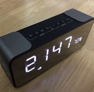 全新有盒 Hifi音響 喇叭 無線藍牙 鬧鐘 收音機 全新