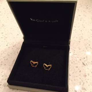 Van Cleef Arples butterfly ear studs