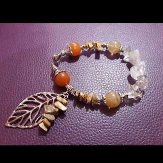 Handcrafted gemstone bracelet - Autumn Elements