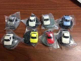 YUJIN 2009年 Tomica Choro-Q 扭蛋 回力車玩具 一套全8種