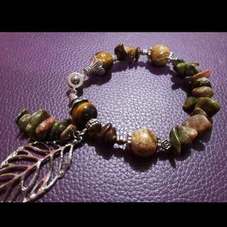 Handcrafted gemstone bracelet - Forest Elements