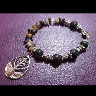 Handcrafted gemstone bracelet