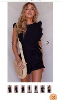 Black playsuit Australian Label with Tag