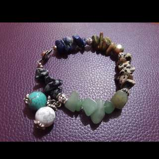 Handcrafted gemstone bracelet - Seven Days of Luck