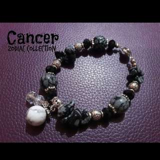 Handcrafted gemstone bracelet - Cancer