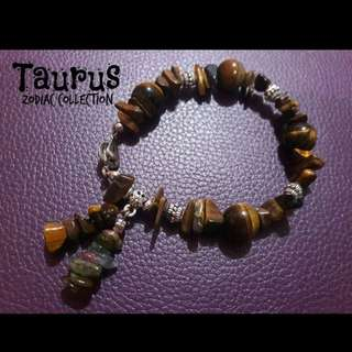 Handcrafted gemstone bracelet - Taurus