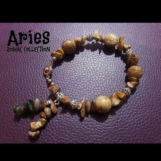 Handcrafted gemstone bracelet - Aries