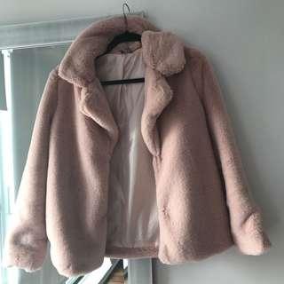 Pink faux fur fashionova