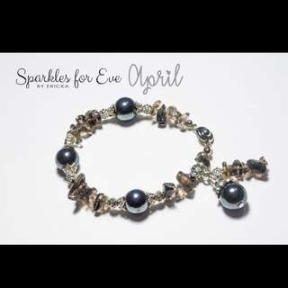 Handcrafted gemstone bracelet - April birthstone
