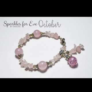 Handcrafted gemstone bracelet - October birthstone