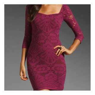 Free People Medallion Dress / Size XS/S / Purple stretchy body-con