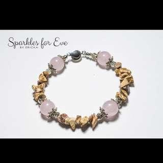 Handcrafted gemstone bracelet