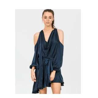 Zimmermann black  sueded billow dress