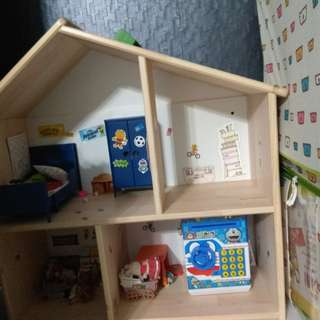 Wooden dollhouse from Ikea