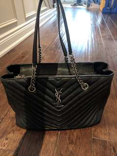 YSL tote with chain