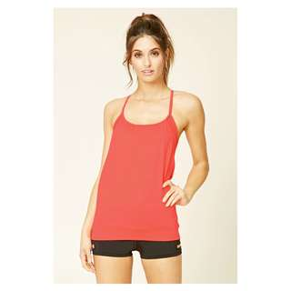 Forever 21 Active Padded Tank Workout Gym Yoga Blossom