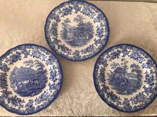 """Spode Blue Room Collection 10.5"""" Plates"""