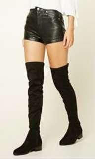 Forever21 OTK black boots