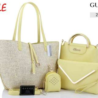 GUCCI Bolbal 4in1 Smooth Leather Hardware Gold 2121*