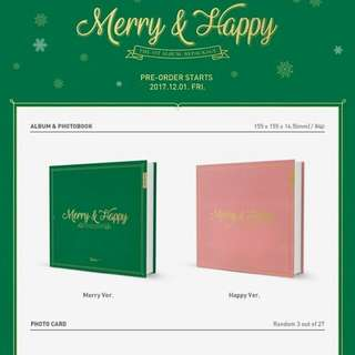 Twice 1st album repackage - Merry and Happy