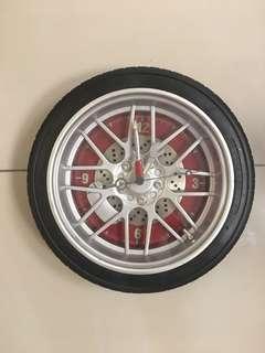 Tyre Rim Wall Clock