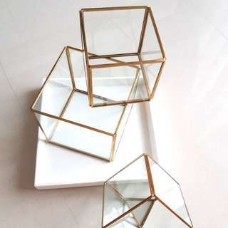 Geometric Terrarium Glass Pieces