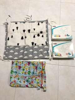 Napkin Liners, Baby Bag, Baby Cot Multi Hanger