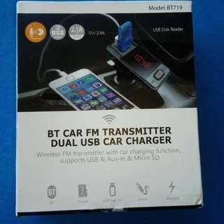 車用 藍牙連接器 車充 液晶顯示