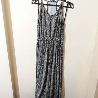 White / Black Maxi Dress