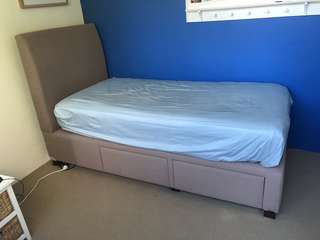 Forty Winks upholstered single bed frame