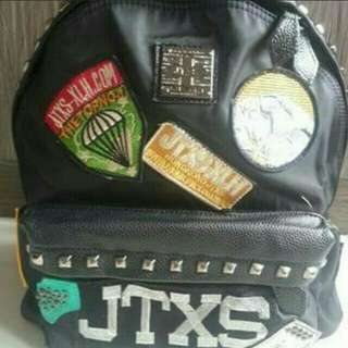 JTX Black  back pack