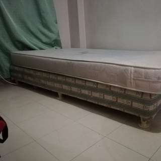 MoveOut Sale Mattress with sturdy bed frame rush sale