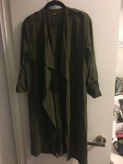 Green waterfall jacket from design lab - size XS