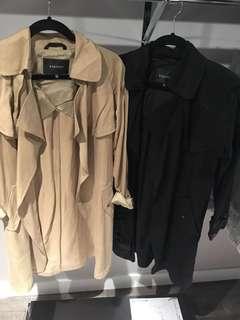 Aritzia babaton Lawson trench coats