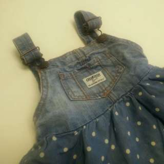 osh kosh bgosh denim overall skirt #baby30