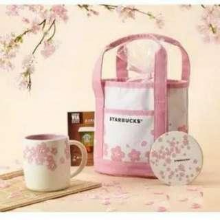 🚚 全新現貨星巴克櫻花杯便當袋包便當包飯盒包午餐包