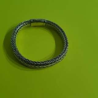 Sterling silver woven chain bracelet