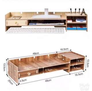 限時特價::實心木  電腦架。收納。增高 (特價期間有禮物送)