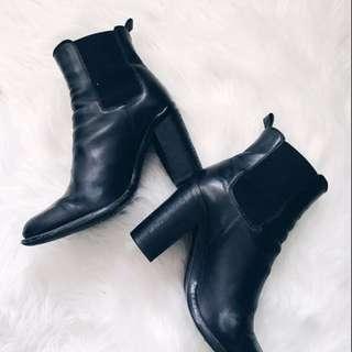 TONY BIANCO 'Reggie' Ankle Boots (Black)