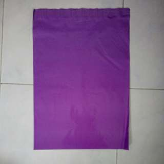 Purple poly mailer bag