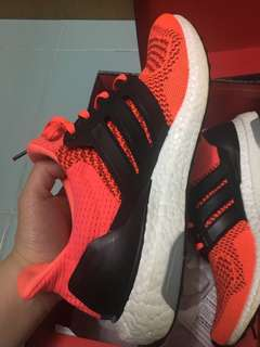 Ultra boost 1.0 solar red us9