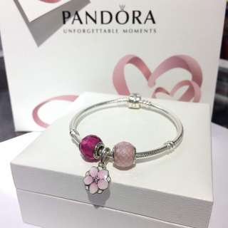 Pandora Magnolia Blossom Dangle Petite Murano Set