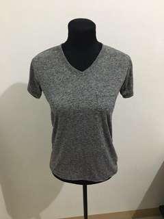 Gray Plain Tee Tshirt T-shirt