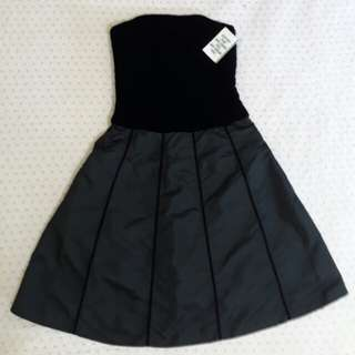💯 Auth Sara Campbell Casual Tube Black Dress