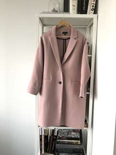 Top shop dusty pink fall coat
