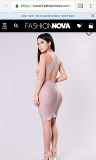Nude bandage dress (brand new with tags) - size Medium