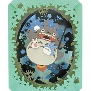 (日本帶回)宮崎駿系列-龍貓 立體相框 擺飾 場景