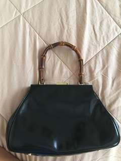 Vintage Gucci bamboo frame bag